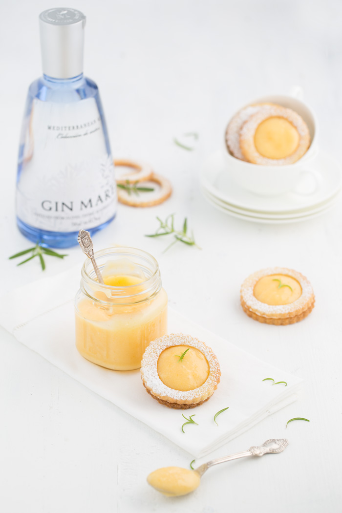 Gin Tonic Lemon Curd Cookies
