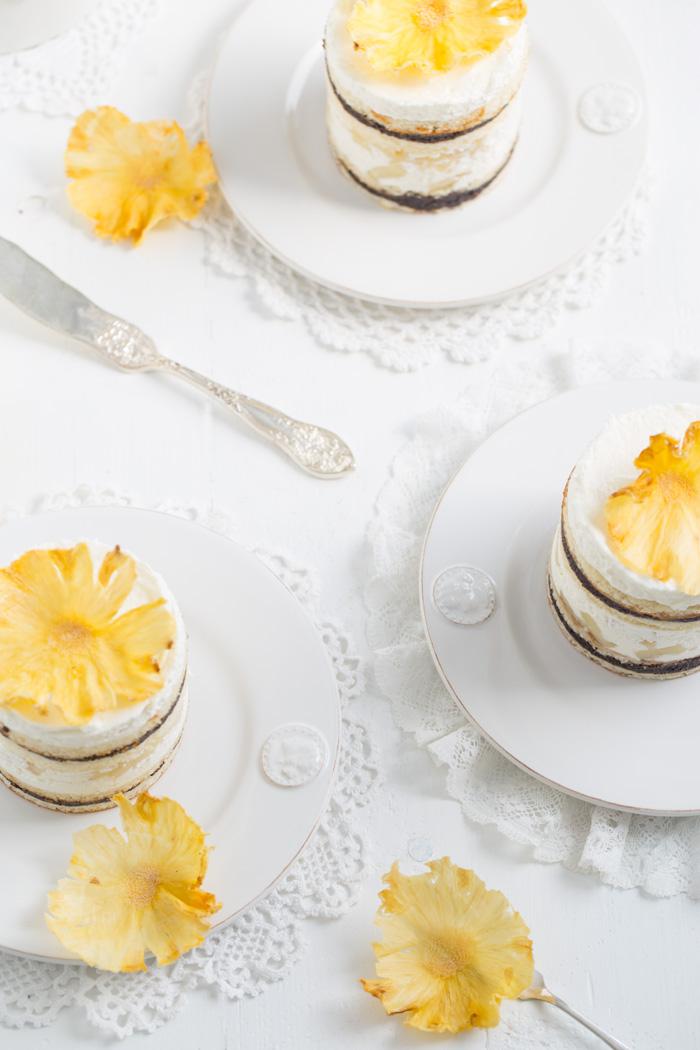 Mohn-Ananas-Törtchen