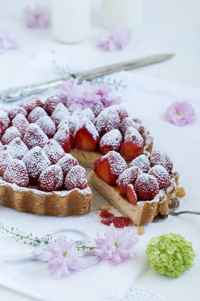 Erdbeer-Ricotta-Tonkabohnen-Tarte