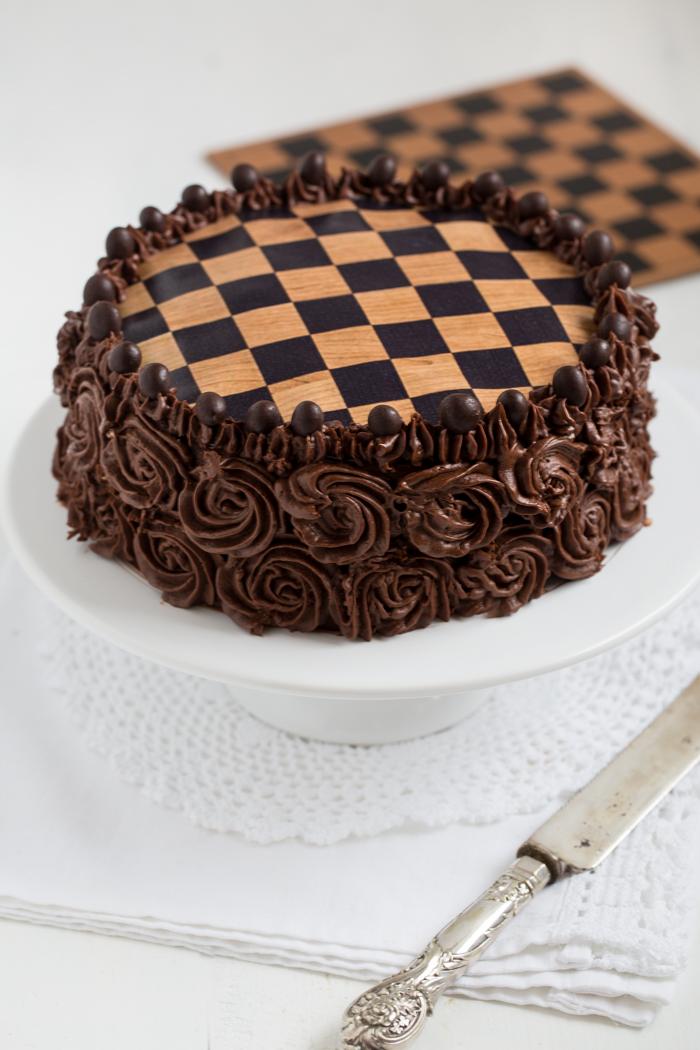 Schokoladen Schachbrett Torte