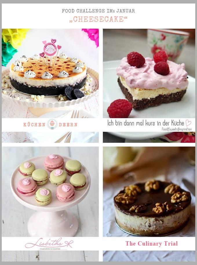 Cheesecake Macarons mit Waldbeeren