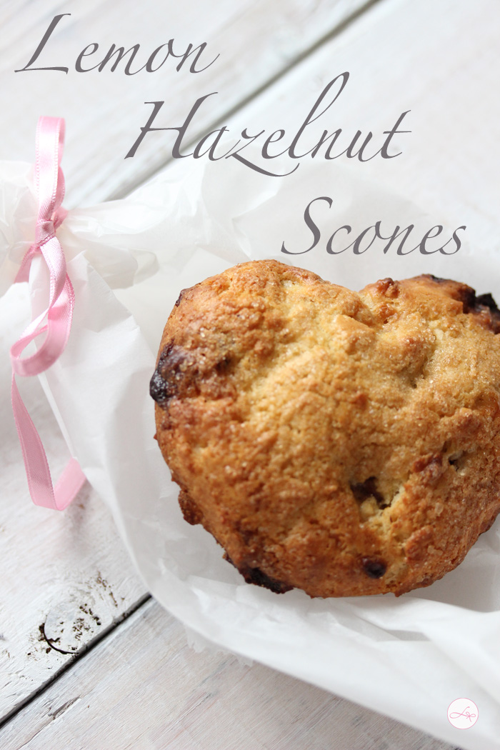 Lemon Hazelnut Scones