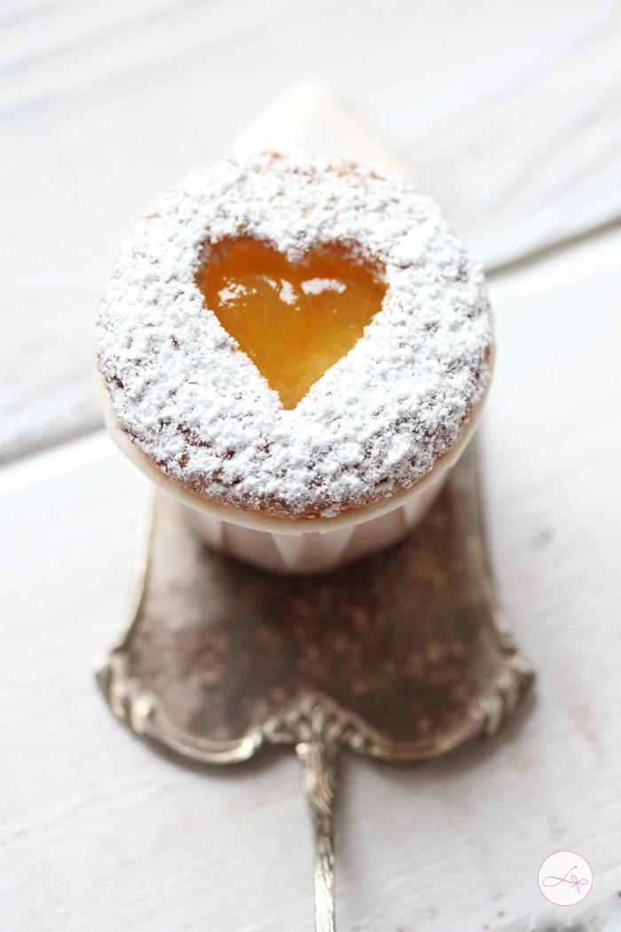 Orangen Herz Cupcakes