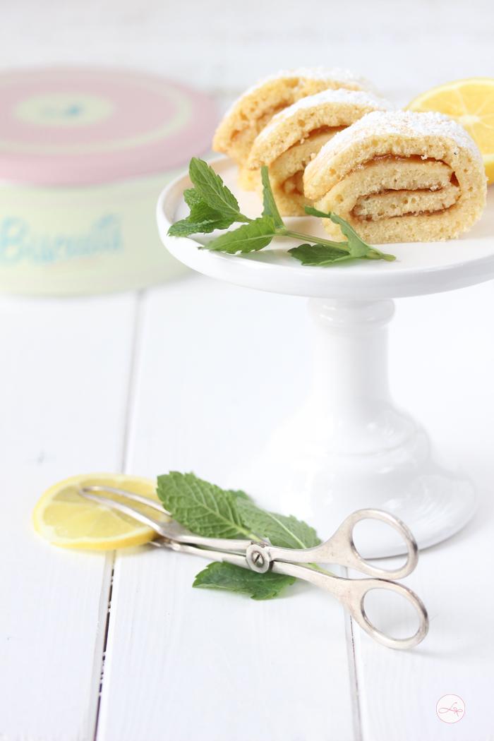 Zitronen Minz Biskuit