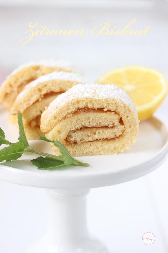 Zitronen Biskuit