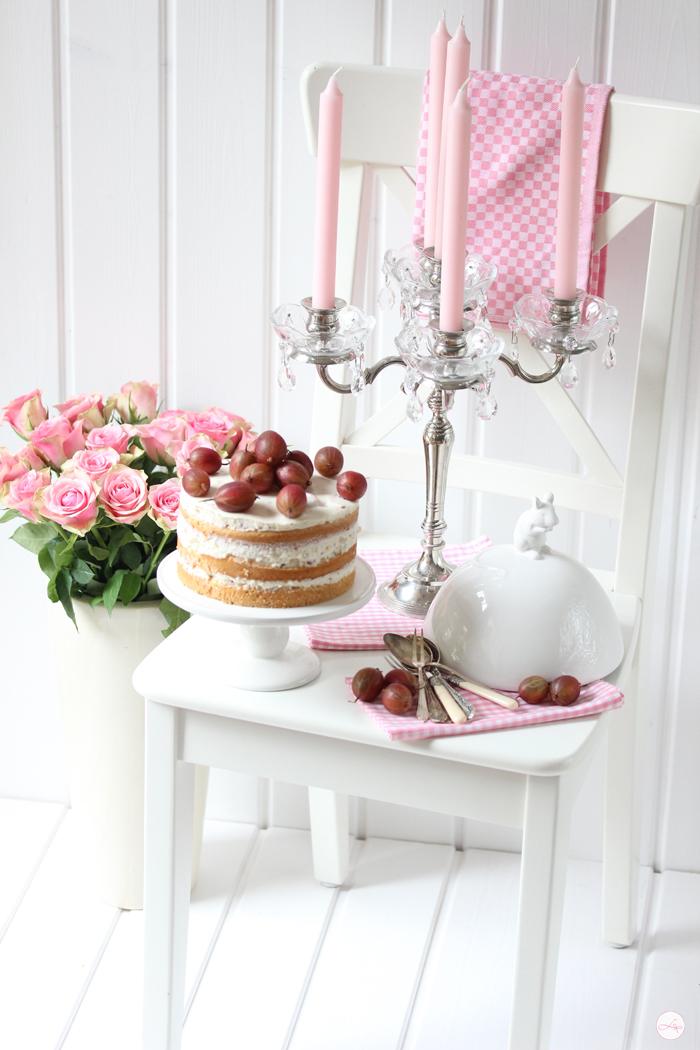 Stachelbeer Torte & Rosa Champagner