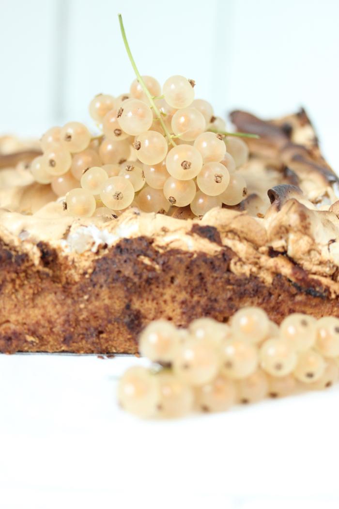 Johannisbeer Kuchen mit Baiser