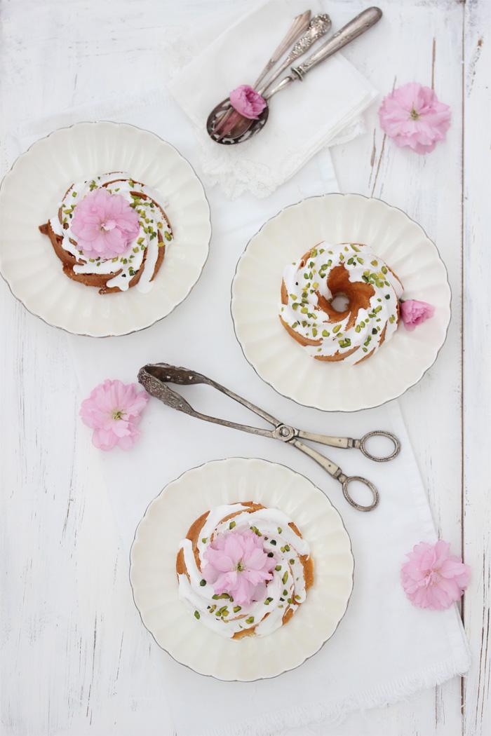 Vanilla Bundtlettes with Cashew & Pistachios