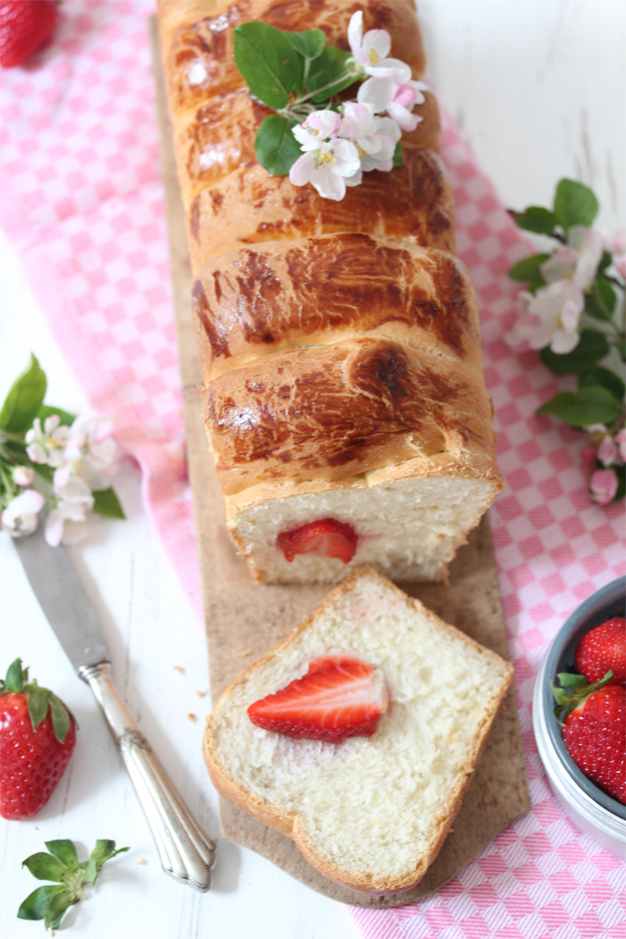 Erdbeer Brioche