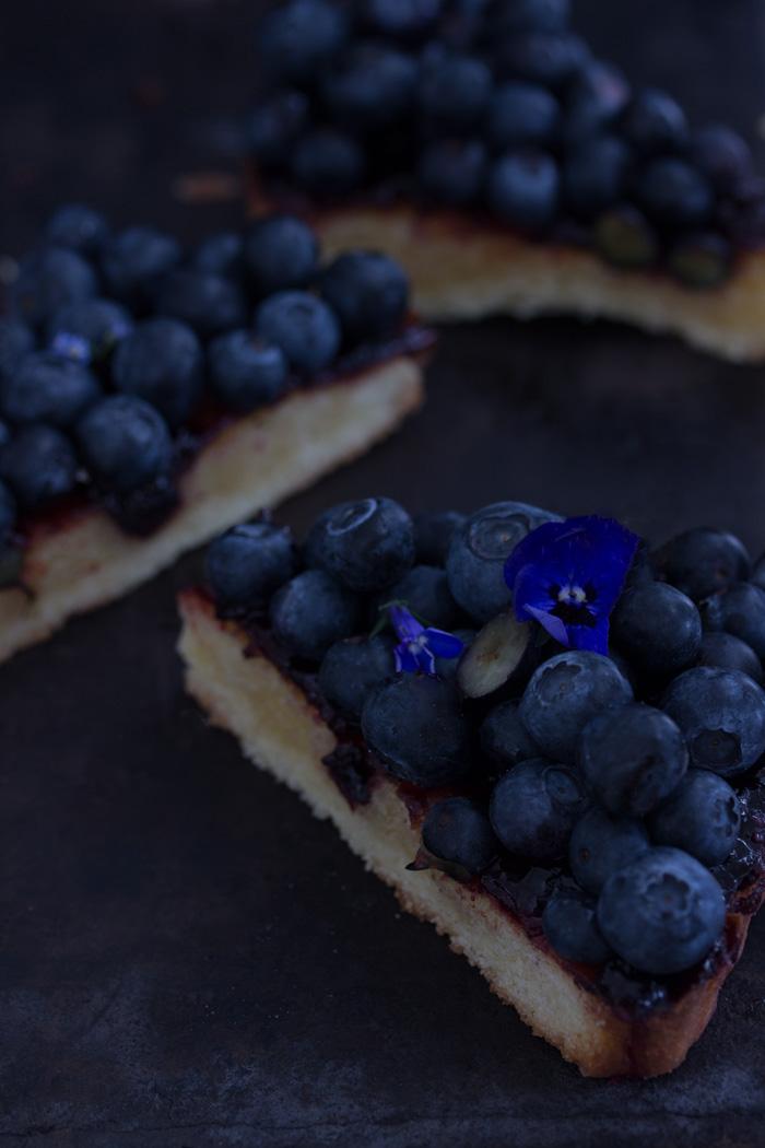 Blaubeer-Frangipane