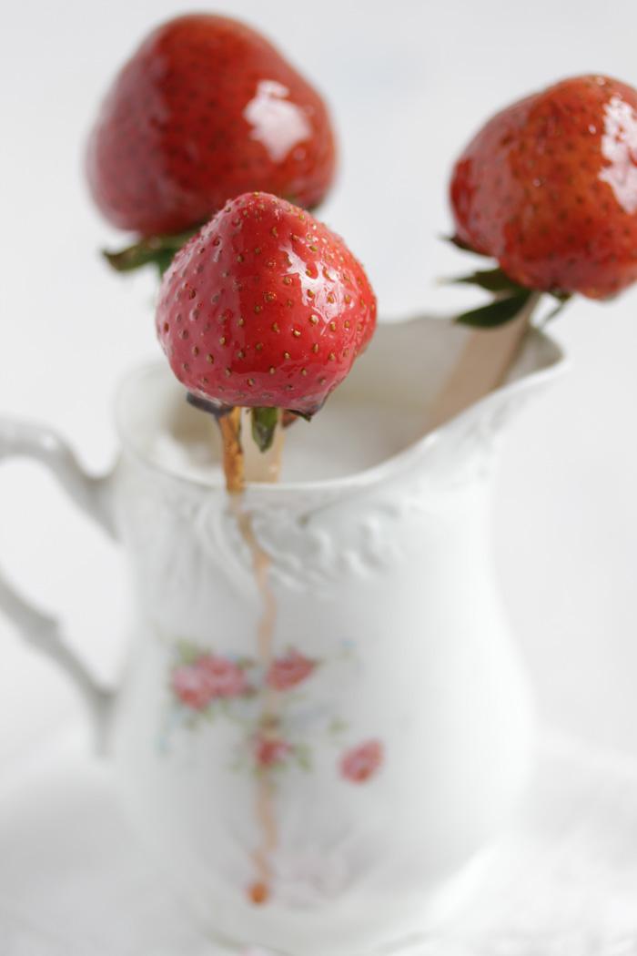 Karamellisierte Balsamico Erdbeeren