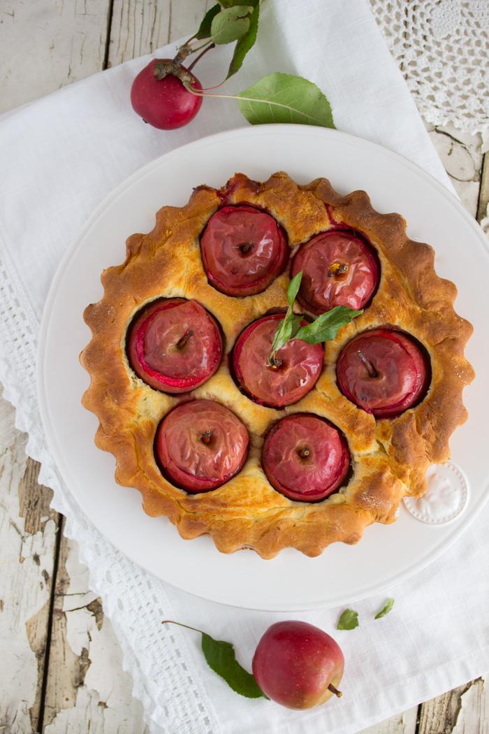Bratapfelkuchen mit einer Dattelfüllung – Krügers Dickstiel ♡