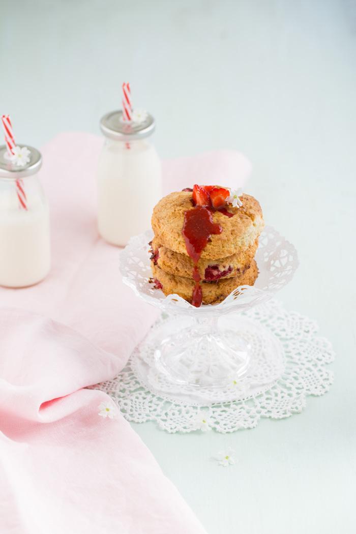 Erdbeer-Butter-Scones