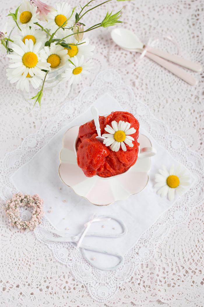 Erdbeer Sorbet