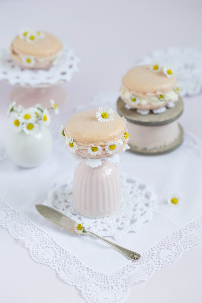 Gänseblümchen-Macarons