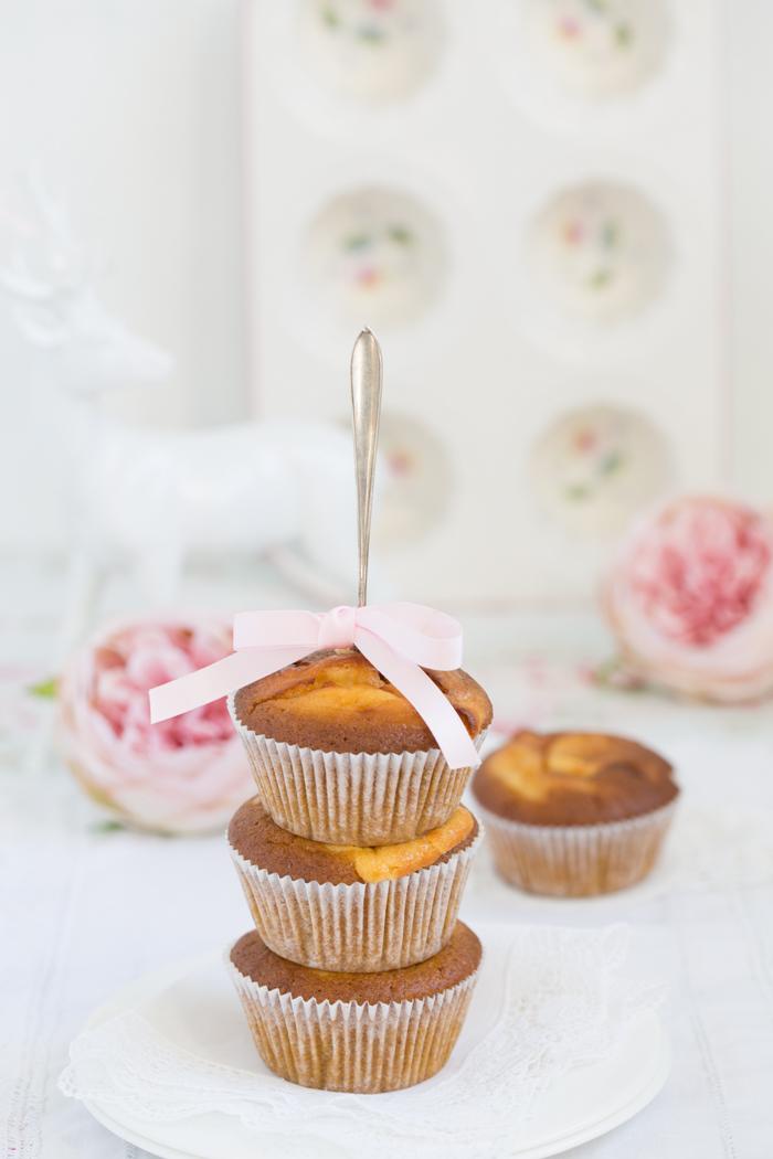 Kürbis-Käsekuchen-Muffins mit karamellisierten Cashews-Glutenfrei