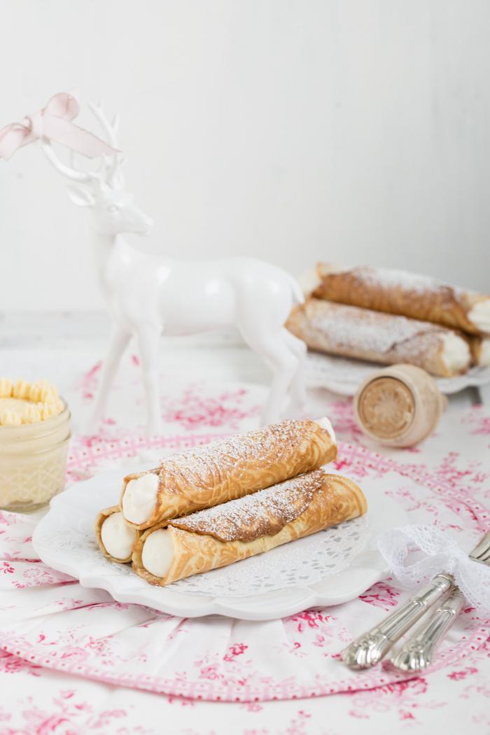 Weihnachtswaffeln mit Tonkabohnen Honig Butter