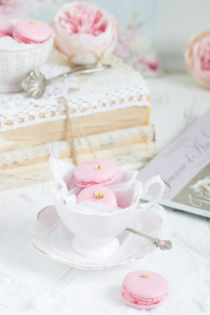 Macarons mit Himbeercreme