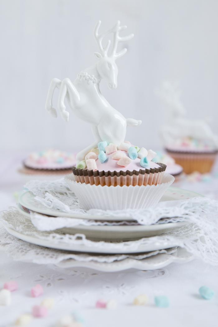 Marshmallow Orangen Cupcakes