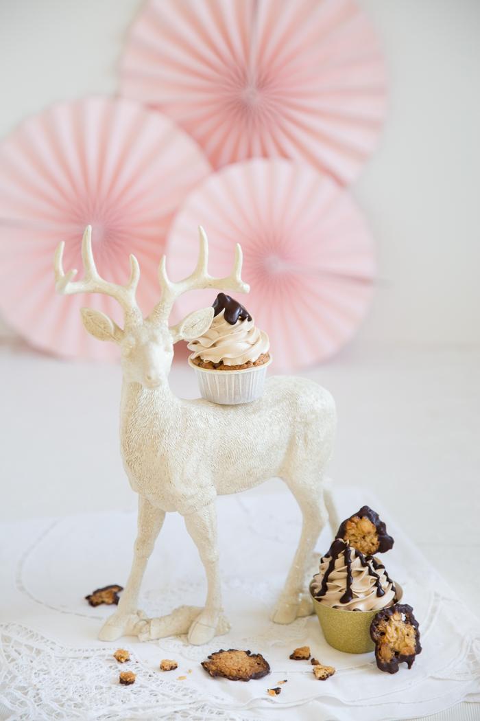 Florentiner-Cupcakes mit Buttercreme & Schokoladen-Ganache