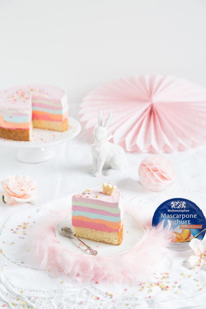 Regenbogen-Jogurt-Törtchen