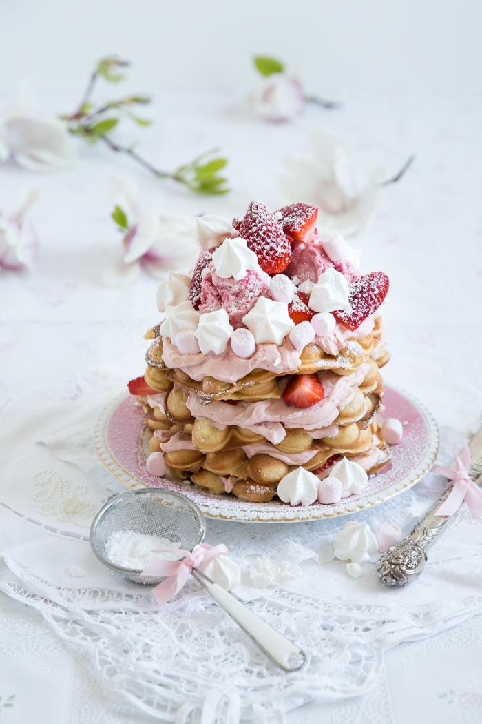 Egg Waffles Cake