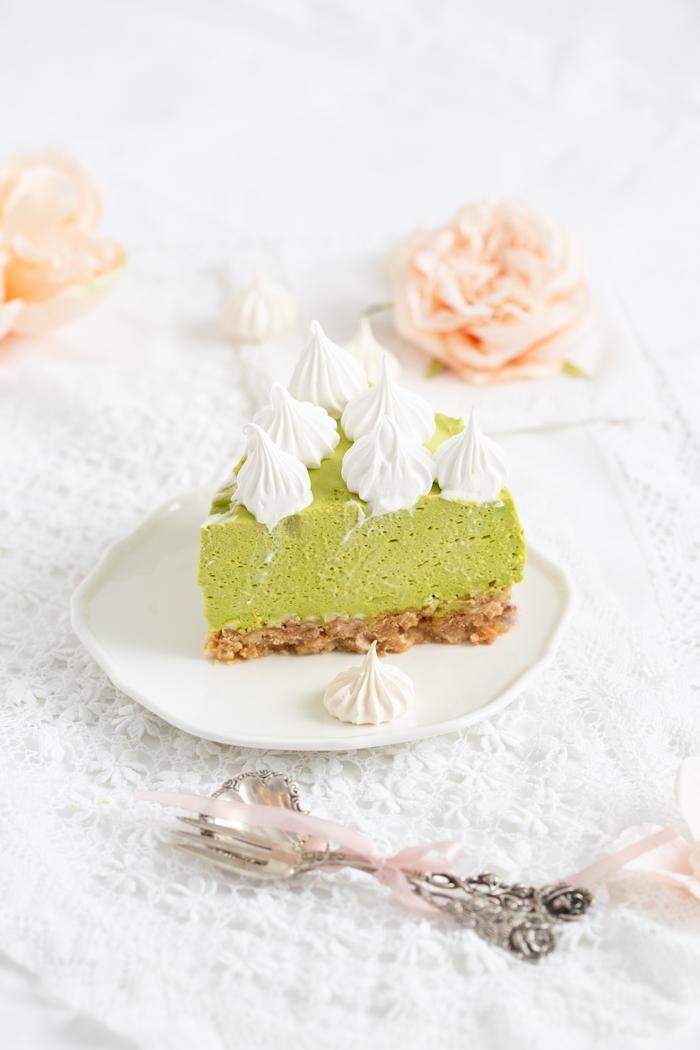 Matcha Panna Cotta Torte