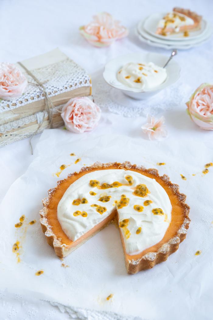 Orangen Passionsfrucht Tarte
