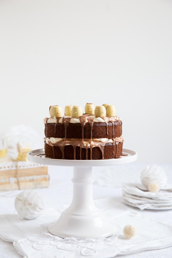 Whisky-Torte mit Schokoladen-Guinnessboden