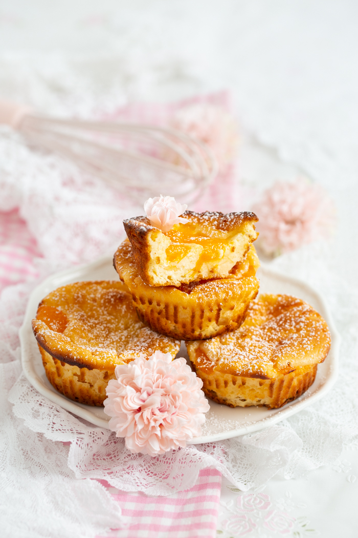 Käsekuchen Muffins mit Mandarinen
