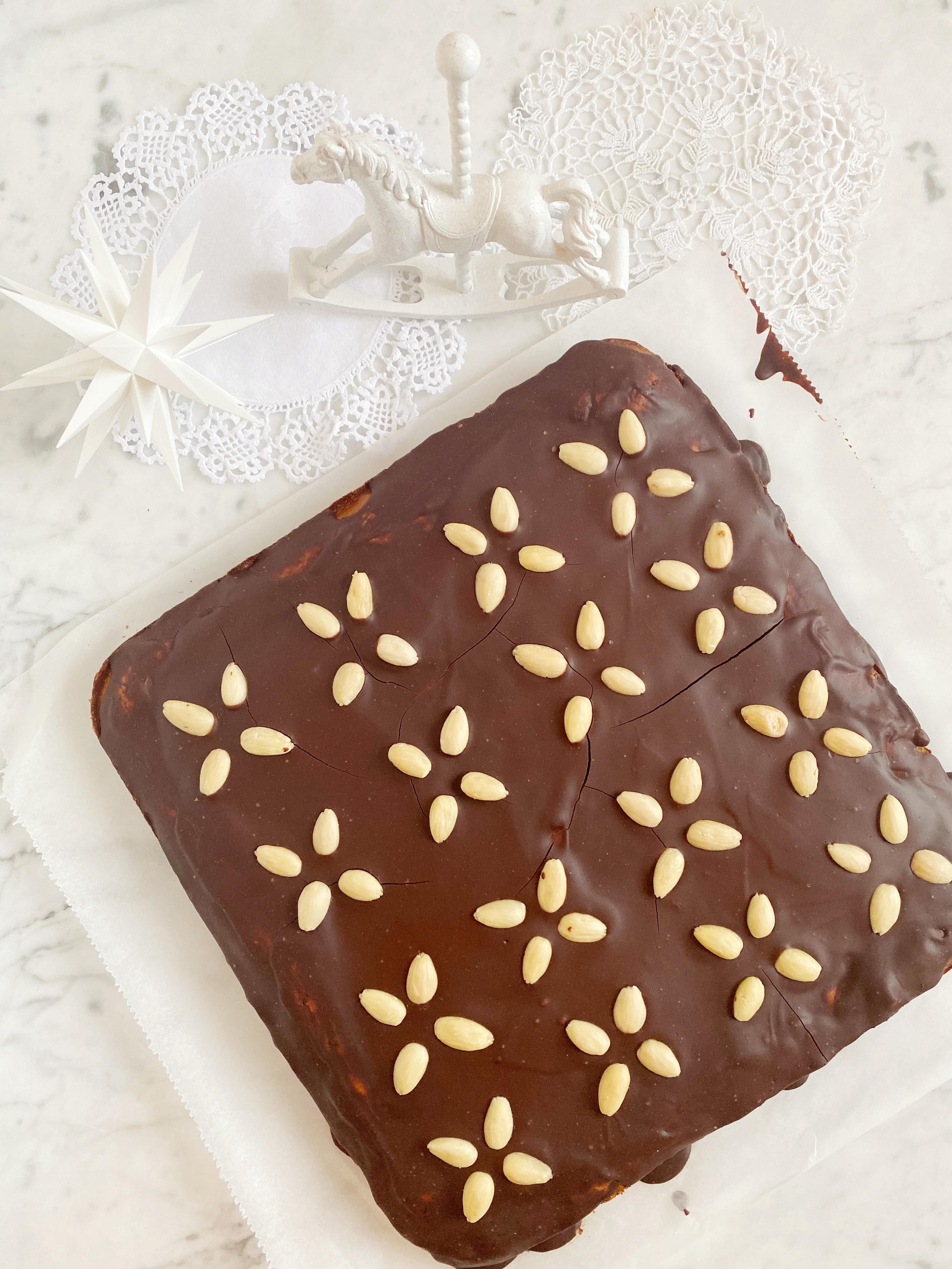 Lebkuchen vom Blech mit Schokoladen Ganache