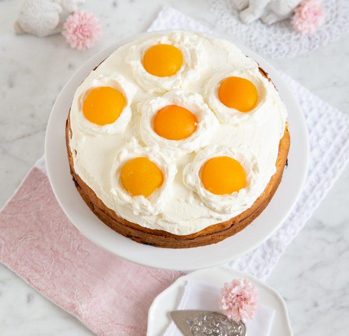 Spiegeleier-Kuchen mit Aprikosen