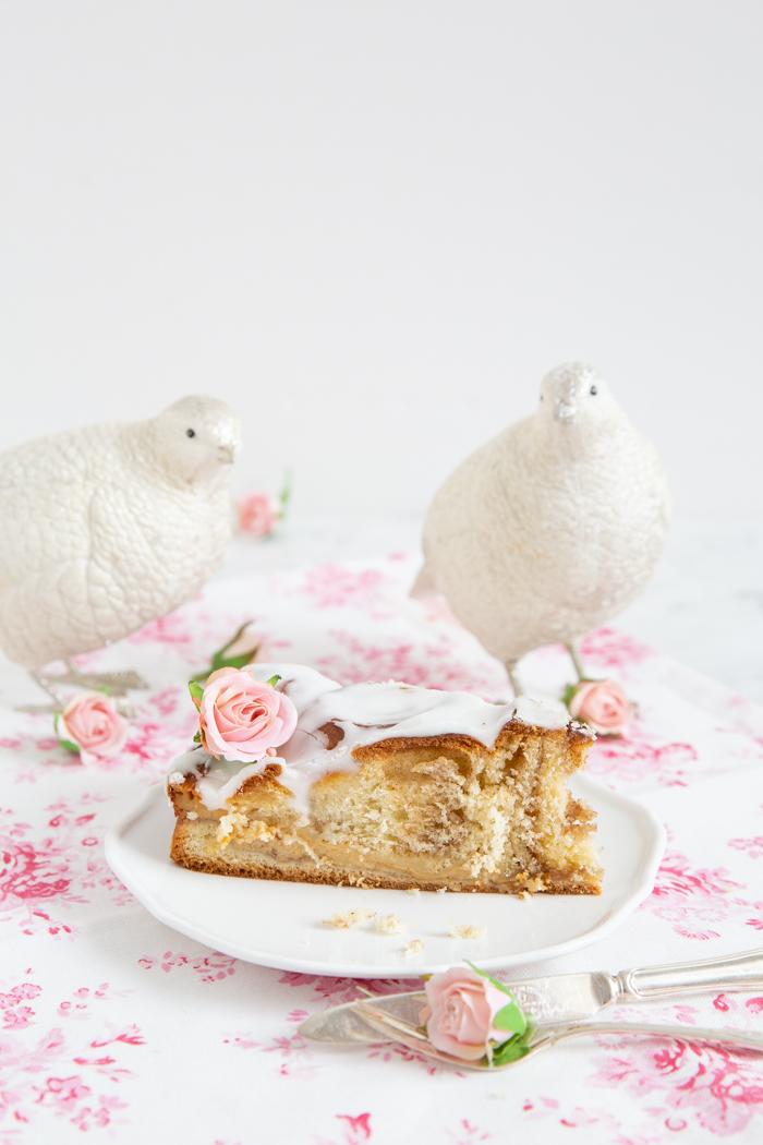 Dänische Dagmar-Tarte/ Dagmartærte-Smørkage